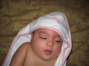 Soleil after her Bath