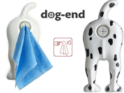 DOG-END TOWEL HOLDER