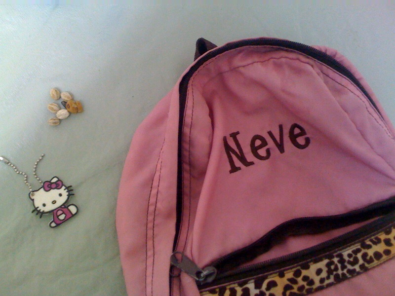 Hello Kitty I Love Nerds Backpack. A hello Kitty tag that was